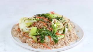 Sweet-and-Sour Sesame Bok Choy with Pork   Cooking Light