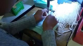 Cara membuat masker kain model jilbab proses pembuatan maskerjilban dengan menggunakan mesin welding ultrasonic. cepat dan praktis