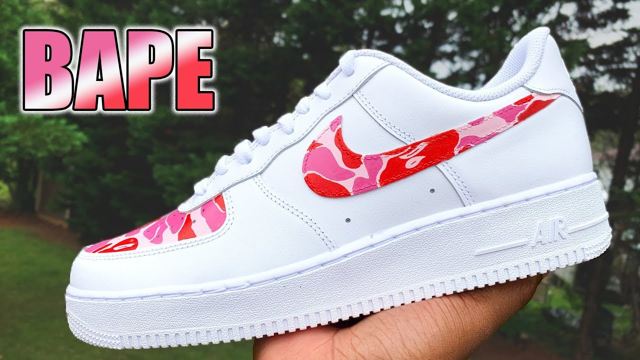 nike air force 1 bape custom