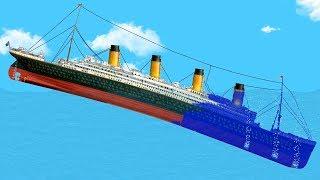 Симулятор тонущего корабля, как потонул титаник Крушение титаника Floating Sandbox