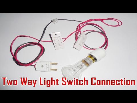 Two Way Switch Installation Wiring Method 2 in Urdu Hindi