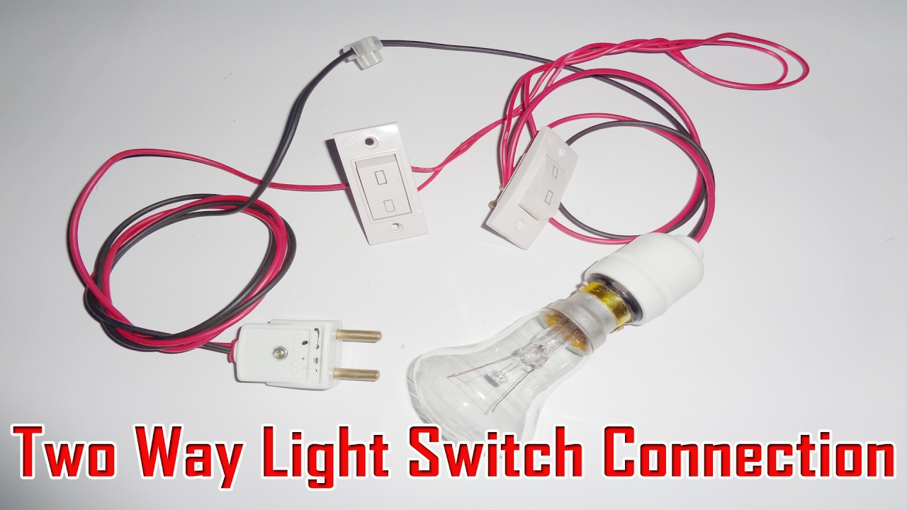 Wiring Diagram For 2 Way Light Switch Off Grid Solar Two Connection - Youtube
