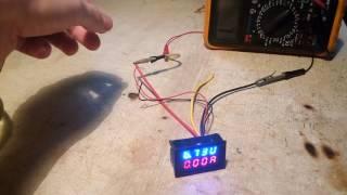 Подключение китайского вольтметра-амперметра