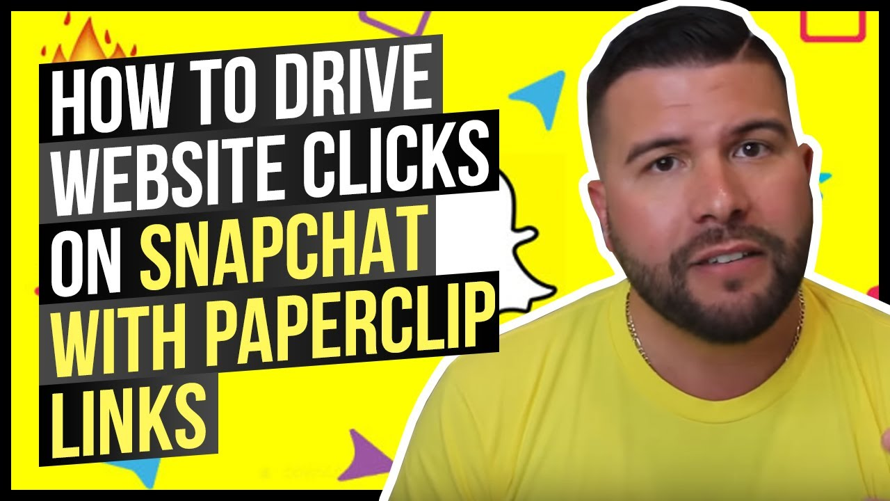 How to Drive Website Clicks on Snapchat With Paperclip Links - YouTube