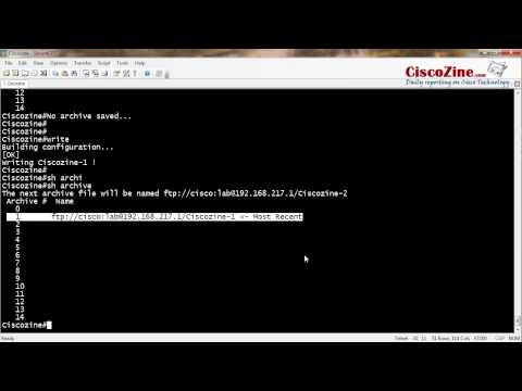 How to use archive command to save configuration | CiscoZine