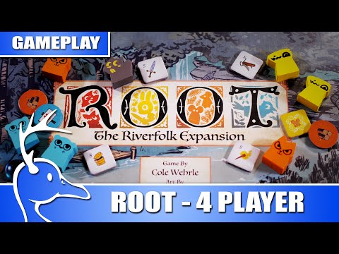Root - 4 Player - Vagabond, Riverfolk Company, Lizard Cult, Marquise De Cat - (Quackalope Gameplay)