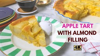 How to make apple tart with almond paste filling  Step by step homemade almond apple tarts