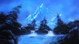 Mountain lake Spray Paint Art