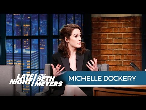 Michelle Dockery on the End of Downton Abbey  Late Night with Seth Meyers
