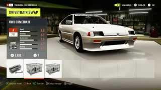 Forza Horizon 2 (Xbox One) : Mugen CR-X Turbo Build w/ Test Drive