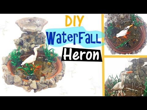 Diy miniature bird waterfall environment resin polymer for Koi pond mold