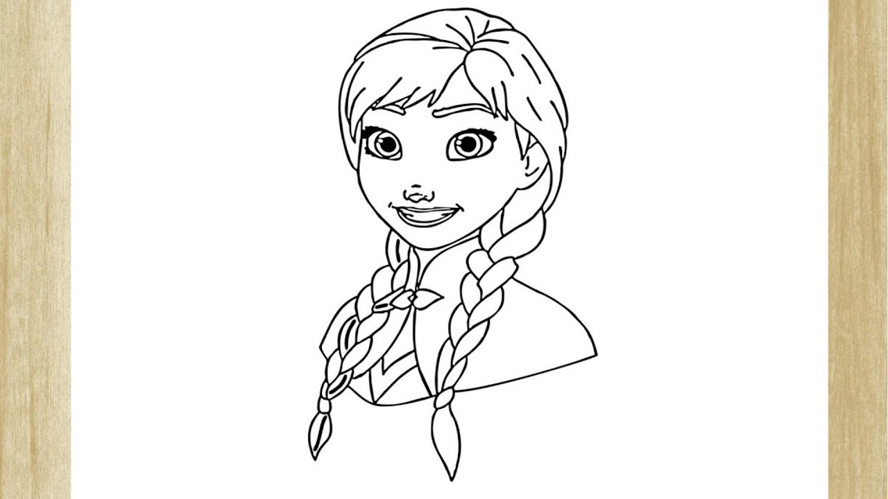 How To Draw Princess Anna Of Arendelle From Frozen Como