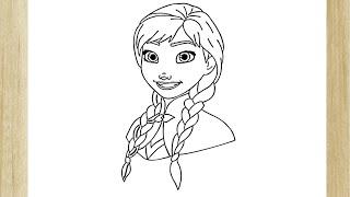 HOW TO DRAW PRINCESS ANNA OF ARENDELLE FROM FROZEN /// COMO DESENHAR A PRINCESA ANNA DE FROZEN
