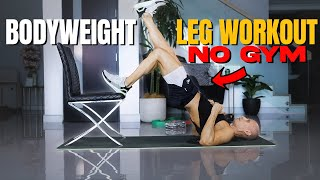 Bodyweight Leg Workout You can do ANYWHERE!