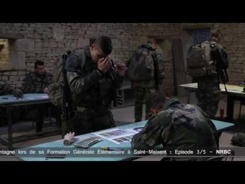 Formation militaire générale élémentaire à Saint Maixent : NRBC