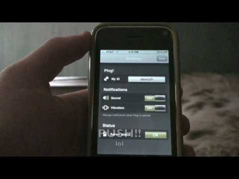 Ping! iPhone/ iPod Touch App Review! BBM FOR the iPhone! - YouTube