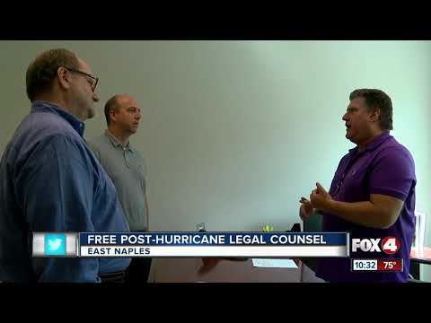 Free post-hurricane legal counsel