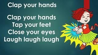Clap your hands। nursery rhyme । kids song clap। kids videos । kids diana show। kids rhymes। song