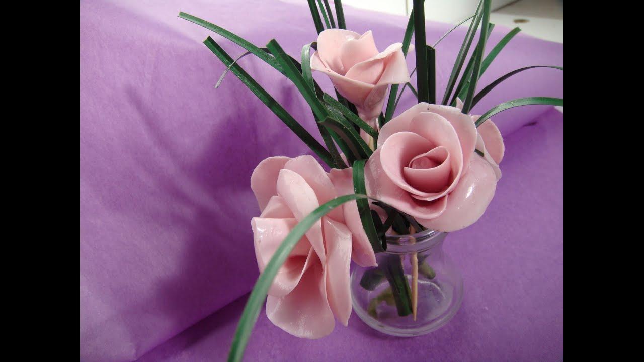Como hacer rosas de caramelo 129 youtube - Como hacer flores ...