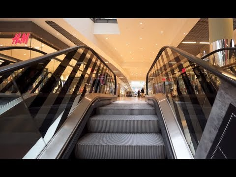Denmark, Copenhagen, Ørestad, Field's shopping mall, 5X elevator, 17X escalator