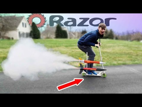 Thumbnail: Rocket Powered Scooter!