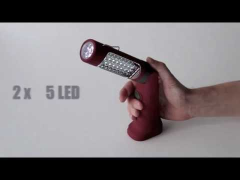 Lampe torche rechargeable kraftwerk 32002 youtube for Lampe de chevet rechargeable