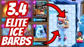 best elite barbarian deck   elite barb ice golem   best arena 8 frozen peak deck clash royale
