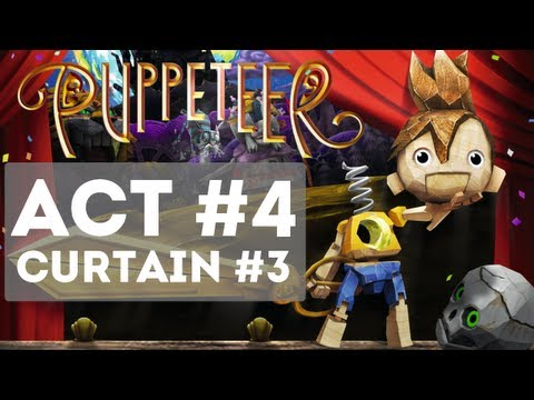 Puppeteer - Gameplay Story Walkthrough Part 12 - Act 4 - Curtain 3 [HD] (High Noon)