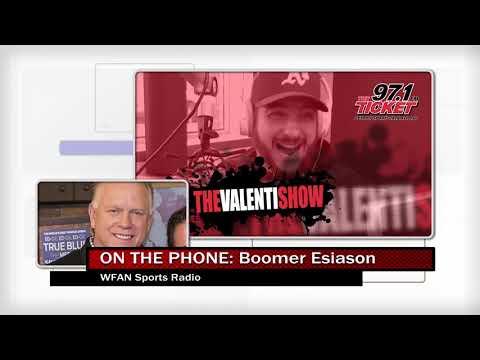 Valenti Show - Boomer Esiason Calls In To Talk Stafford, Patricia, And More