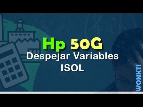 HP 50G: Despejar Variables - ISOL