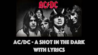 AC/DC - Shot In The Dark With Lyrics