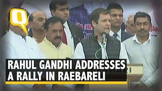 Rahul Gandhi Addresses a Rally in Raebareli
