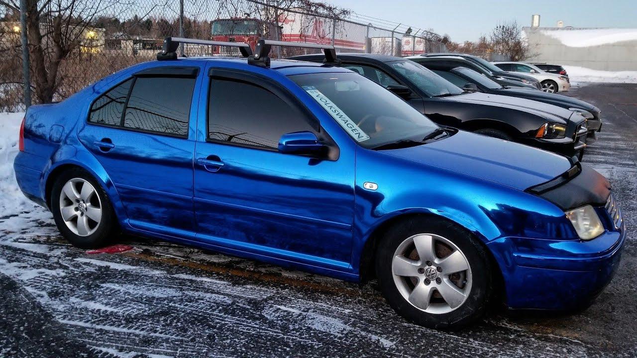 Wicked Gloss Blue Chrome Volkswagen Jetta Vinyl Wrap