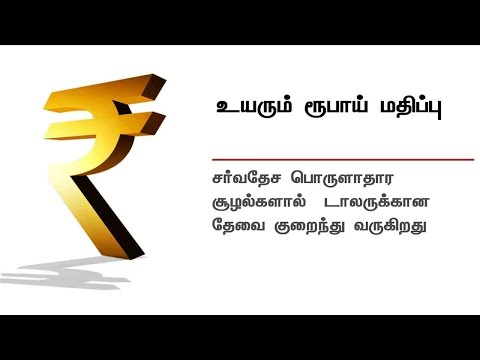 Indian rupee increases against US dollar