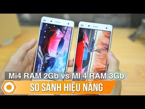 Xiaomi Mi4 bản Ram 3Gb và 2Gb - Khác biệt chỉ đến từ hiệu năng.