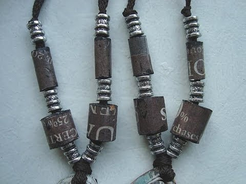How To Make Tube Beads From Newspaper Paper Beads Paper