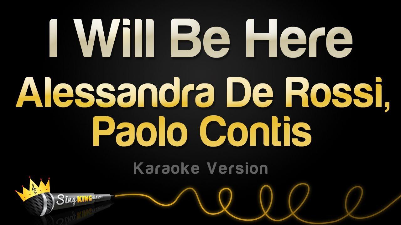 Alessandra De Rossi, Paolo Contis - I Will Be Here (Karaoke Version)