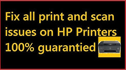 How to fix printing issues in HP printers | Scanner is not scanning | Printer isn't working