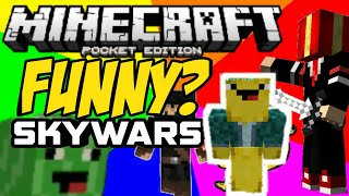 The NOOBIEST player in MCPE! skywars funny moments