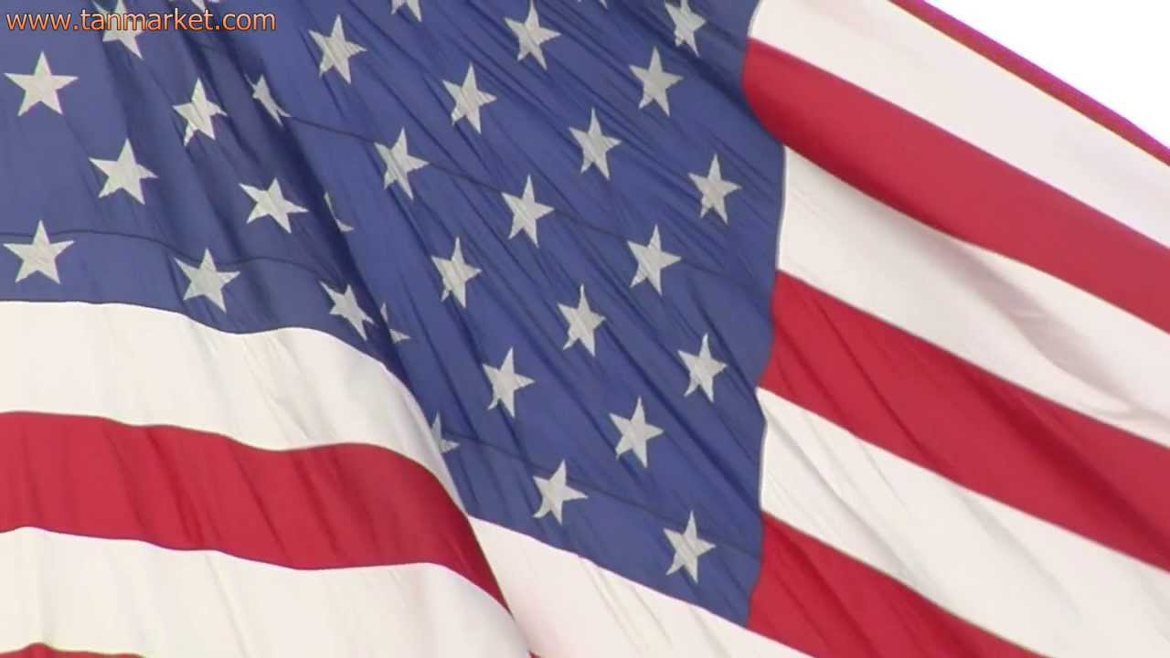 american flag close up and moving in slow motion 1