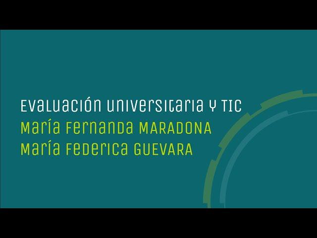 Evaluación universitaria y TIC