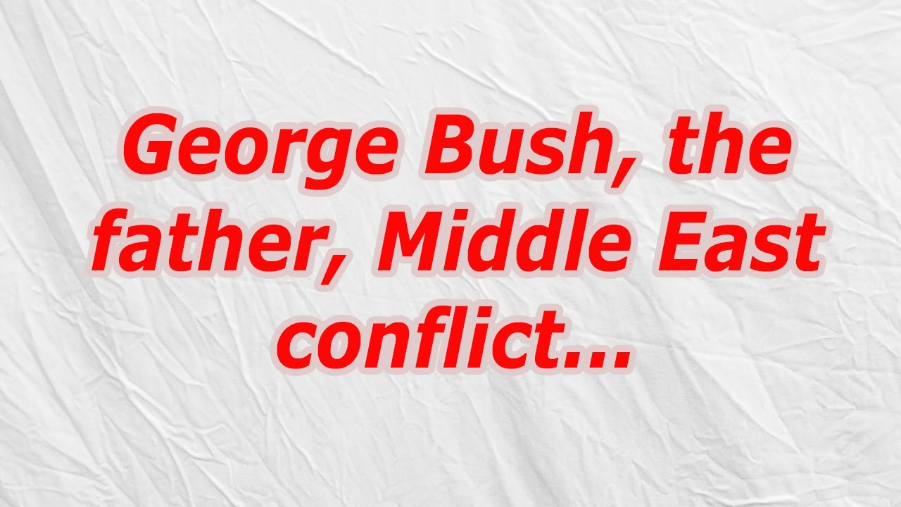 George Bush The Father Middle East Conflict Codycross Crossword