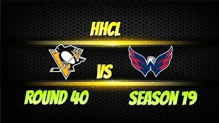Roblox HHCL Season 19 Round 40 Pittsburgh Penguins vs Washington Capitals Highlights! HHCL Gameplay