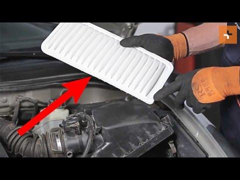 Toyota Auris Diesel 2016 >> Wie TOYOTA COROLLA E120 Luftfilter wechseln TUTORIAL | AUTODOC - YouTube