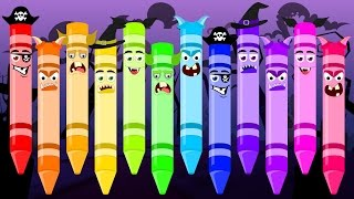 Scary Crayons Song | Halloween Song