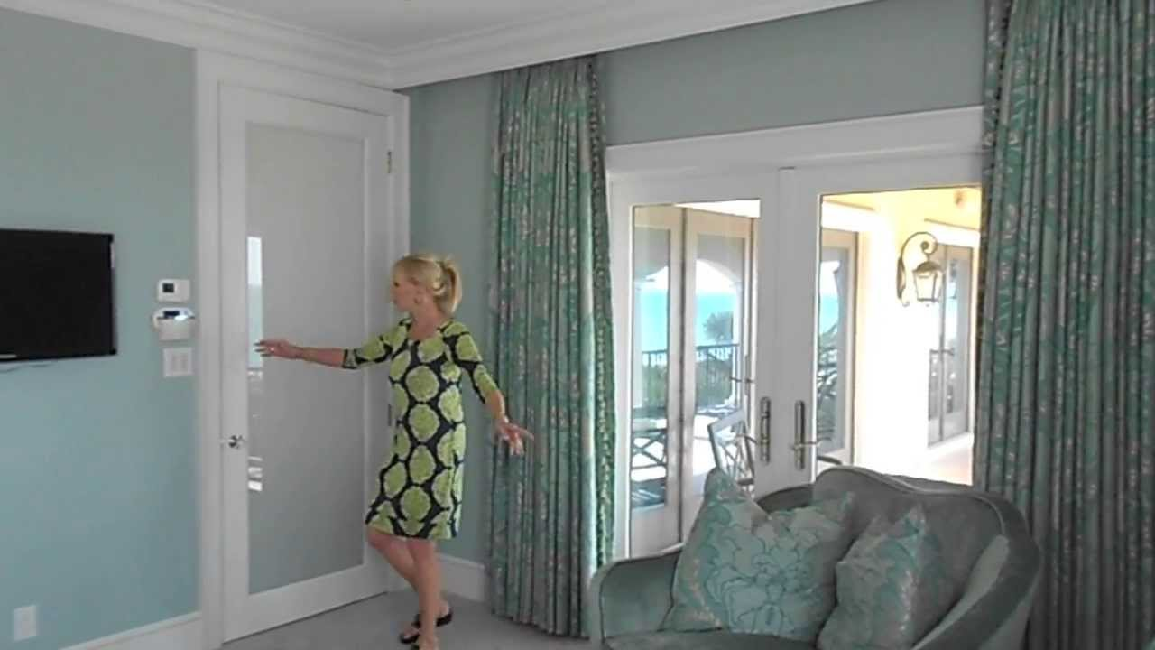 Sarasota FL Bonnie Lancaster Interior Design Shows Off Motorized Drapes