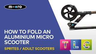 How to fold down Micro Black scooter