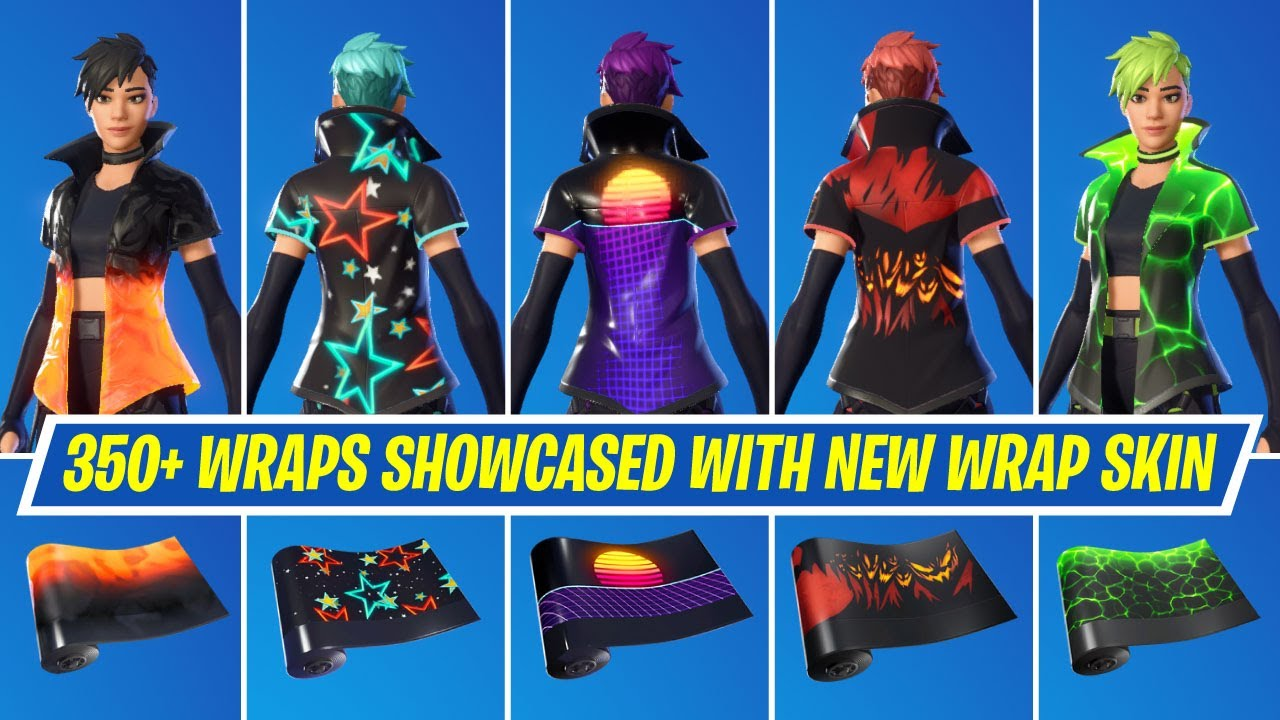 All 350+ Wraps Showcased with the New Wrap Skin in Fortnite Chapter 2 Season 7