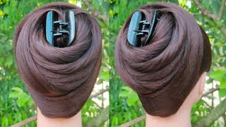 new latest juda hairstyle with clutcher | easy hairstyle | hair style girl | bun hairstyle |