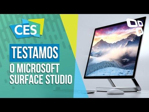 Testamos o Microsoft Surface Studio - CES 2017 - TecMundo